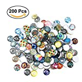 ROSENICE Carreaux de mosaïque 12mm Mixed Round for Crafts Glass Mosaic Supplies pour bijoux Making 200pcs...