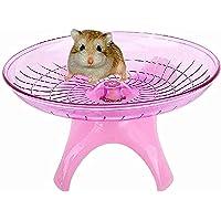 FDSHIP 18cm Jumbo Silent Running Cum Jogging Cum Exercise Wheel for Hamster/Dwarf/Gerbil/Mice/Mouse (Pink)