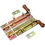 KOTARBAU® deurvergrendeling 280 mm rechts/links set 2 st. deurvergrendeling bout slotgrendel verzinkt geel vergrendelsluiting