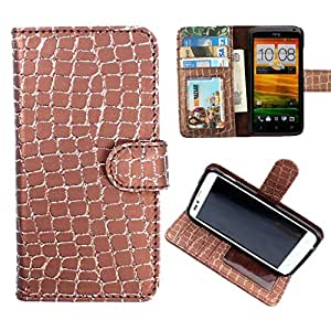 DooDa PU Leather Wallet Flip Case Cover With Card & ID Slots & Magnetic Closure For Motorola Moto E