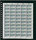 Omnia Bogenblatt mit 1 Tasche (262 x 305 mm) pro Seite, schwarz, 10er-Packung