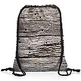 style3 Ausgebleichte Holzplanken Rucksack Tasche Turnbeutel Sport Jute Beutel Holz Holzoptik
