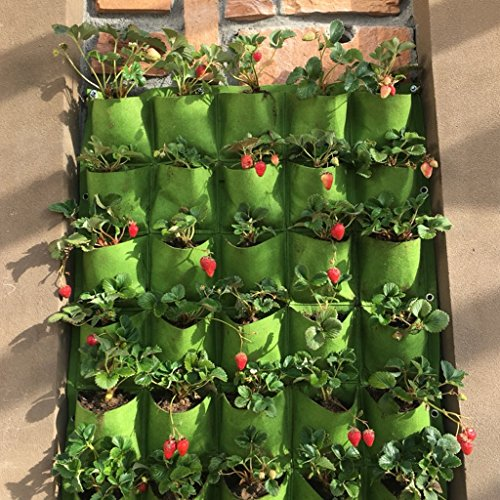 Cold Toy Outdoor 18 Pocket Indoor Balkon Herb vertikale Garten Wandbehang Pflanzer Bag (Leichte Indoor-pflanzer)