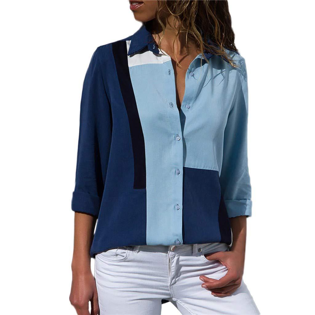 742472a1db58 Anmain Primavera Pulsante Camicie Camiceria Donna