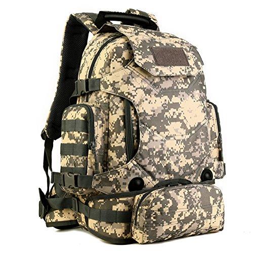 40L wasserdicht Tactical Military MOLLE Assault Rucksack Pack Rucksack Set Groß für Camping Wandern Angeln Jagd Reisen und EDC ACU digital
