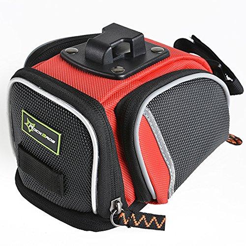MaMaison007 ROCKBROS bicicletta sella posteriore sedile coda borsa impermeabile borsa - rosso - Atletica Sedile