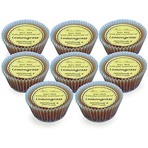 8 Citronella Colate Di Cera in Cupcake Design