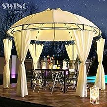 Swing U0026 Harmonie LED   Pavillon 350cm Lavo   Mit Seitenwänden Und LED  Beleuchtung + Solarmodul