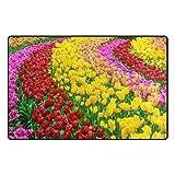 Bennigiry Gartenblume Bereich Teppich Teppich Rutschfeste Eintrag Bodenmatte Fußmatten für Wohnzimmer Schlafzimmer 78,7 x 50,8 cm