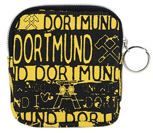 Geldbörse Canvas DORTMUND schwarz gelb Schminktäschchen BG3403A ✅
