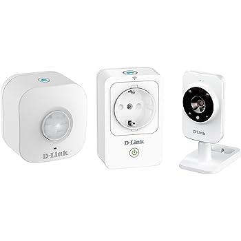D-Link DCH-100KT Sistema di Sicurezza Domestico, Wi-Fi, HD, Bianco
