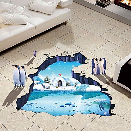 YUCH Ameublement De Maison Pvc Autocollants Dessin Animé Enfants Glacier Prix Stickers Décoratif Mural
