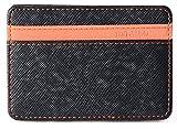 Billetera Mágica Efectivo Identificación Tarjetas Delgada con Broche para Slim soporte Mini cartera ID caso monedero (Naranja)