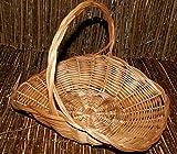 Weidenkorb Geschenkkorb Dekorationskorb Weide Behälter aus Weide verschiedene Varianten (KPR048 - Obstkorb, flach, quadratisch, mittelgroß)