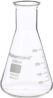 Conische glazen kolf 250 ml   maatkolf, moleculaire kolf, elzenmeyer kolf, chemische kolf