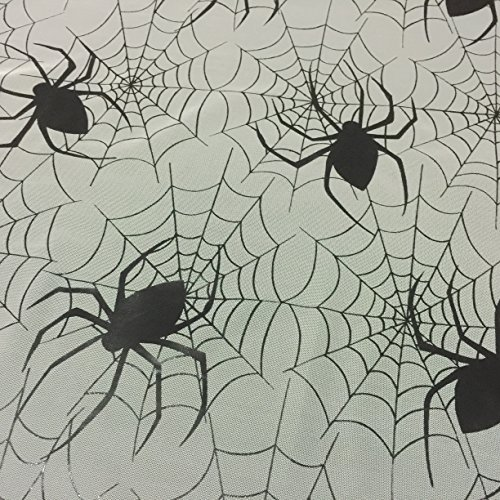 Weiß Halloween Spider Bahnen Spooky Net Stoff für Dekorationen Kleid & Kostüme 149,9cm–149cm breit–Meterware