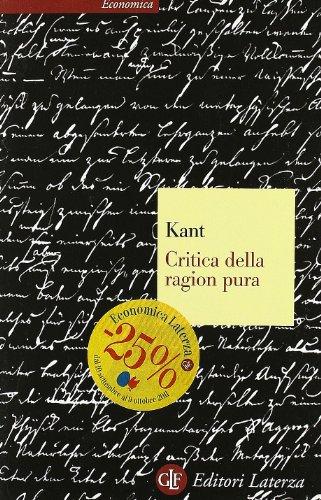 Critica della ragion pura (Economica Laterza)