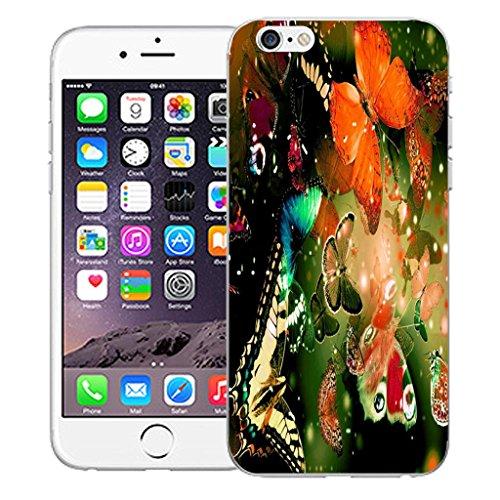 """Nouveau iPhone 6 4.7"""" inch clip on Dur Coque couverture case cover Pare-chocs - fashion Motif avec Stylet exquisite butterflies"""
