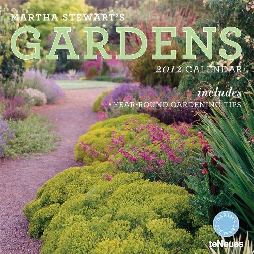 Martha Stewart's Gardens 2012 Calendar