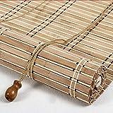 ZAQ Bambusrollo Rollos Verdunkelungsrollos mit Beschlag, Bambus-Sonnenschutz für Schlafzimmer-Kithchen-Fenstertür, 40 cm / 60 cm / 80 cm / 100 cm / 120 cm Breite (größe : 120×140cm)