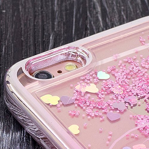 Souple TPU Étui pour iPhone 7 4.7 Pouces Clair Doux Silicone Gel Housse,Vandot Coque pour iPhone 7 Transparent Coque Ultra Mince Case Cover pour iPhone 7 [Conception de miroir de forme de coeur] 3D Bl Placage-05