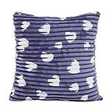 SHOBDW Plüsch Kissen Dekorative Home Decor Sofa Taille Wurf Kissenbezug Case Set Dekokissen Deckt Geometrische Muster 43X43cm/16.9X16.9 Liebe Drucken Künstliche Wollmantel mit Streifen Kissenbezüge
