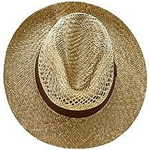 EveryHead Fiebig Sombrero De Paja Los Hombres Verano Playa Vacaciones  Equinácea Gorro Fiesta Con Marrón Banda 602eef701b6