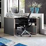 Schreibtisch »SLEID« Eiche Sonoma - anthrazit