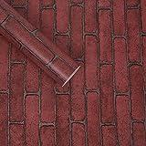 REAGONE Wall Paper Selbstklebendes moderne Toilette Heim Schrankwand Live-Large Volume Farbe Hintergrund Familie Öl-Pastell-Farben ungiftig, und 10-Meter-Red Brick, Large619240