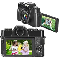 Digital Camera Video Camera for Vlogging 2.7K 30MP 16x Digital Zoom 3 Inch 180° Flip Screen…