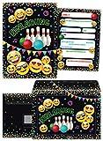 JuNa-Experten 12 Einladungskarten incl. 12 Umschläge Geburtstag Kinder Jungen Jungs Mädchen Bowling / Einladung zur Bowling-Party / Kartenset