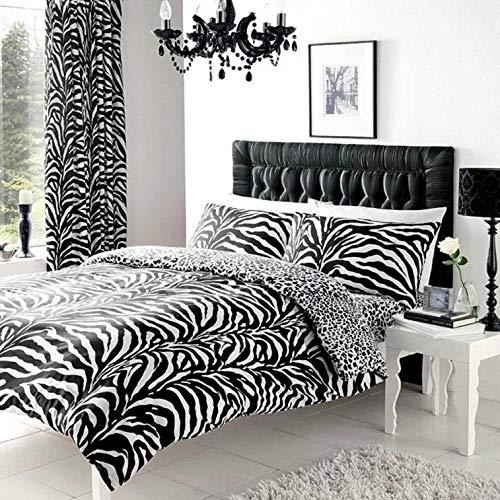 Gaveno Cavalia Zebra Haut Bettbezug Set, weiß/schwarz, 5 x 27 x 39 cm (Bettwäsche Schwarz Weiße König)