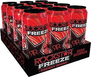 Rockstar Engery Drink Freeze Frozen Watermelon, 12er Pack, Einweg (12 x 500 ml)