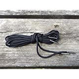 Mad Dog Laces Mad Dog Boot Laces *Guaranteed For Life* 550 Paracord Steel Tip Black 70inch 8 To 10 Eyelets