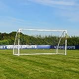 FORZA Match But de Foot PVC avec Filet (1,5m x 1,2m  4,9m x 2,1m) [Net World Sports] (3m x 2m)