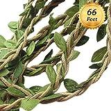 Machen ES funwan 66ft/20m Kunstpflanze Vine Fake Laub Blatt Girlande Rustikaler Kranz dekorativer Weihnachtsbaum Dekorationen