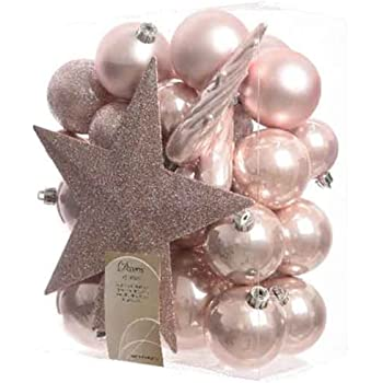 Bauble Star Combo Blush Pink Xmas Tree Decorations