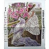 Stickerei Vorlage Perlenstickerei Komplett Set Jungfrau 27x35cm 0616-8