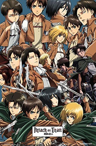 "Attack On Titan - TV Show Poster / Print (Character Collage) (Size: 24"" x 36"") by Posterstoponline"