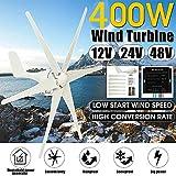 W+G 400W Lama Wind Generator + regolatore del Vento Turbine Orizzontale Home Alimentatori Mulino a Vento Turbine Energia Carica diversa Come la visualizzazione della Differenza,12v