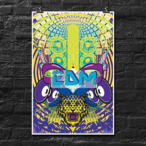 SJC Bass EDM Poster Wall Print | Inspirierende Motivational Gym Klassenzimmer Home Office Wohnheim | 45,7x 30,5cm | sjc206