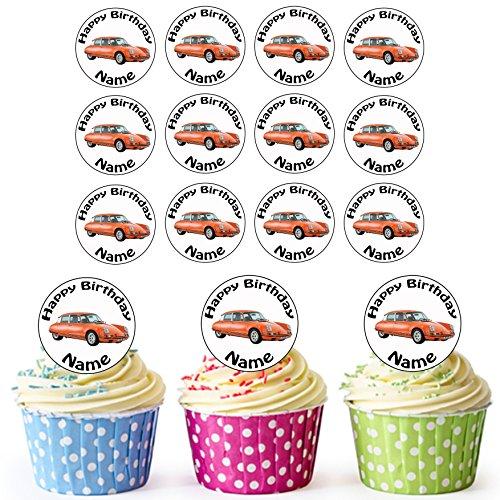Vintage Veranda 24Personalisierte Essbare Cupcake Topper/Geburtstag Kuchen Dekorationen-Einfache vorgeschnittenen Kreise