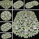 Margerite Kamille Tischläufer/Tischdecke grün mit weißen Blumen Stickerei - Größe wählbar (ca. 30 cm Rund)