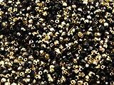 100 pcs Checa facetado cuentas de vidrio, ronda fire-polished tamaño 3mm Jet Amber