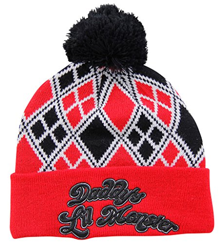 DC Comics Suicide Squad Daddy's Lil Monster Pom Beanie Hat