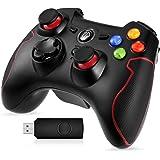 EasySMX Wireless Controller, Drahtloser 2.4G Spiel-Controller unterstützt PC (Windows XP / 7/8 / 8.1/10) und PS3, Android, Vista, TV-Box Tragbare Gamepad Gaming Joystick, MEHRWEG