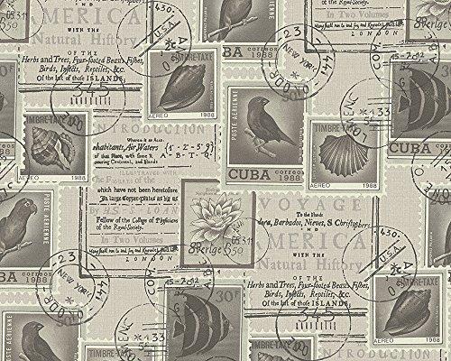 A.S. Création Tapete Dekora Natur natürlich 10,05 m x 0,53 m braun creme schwarz Made in Germany 958992 95899-2 (Creme Tapete Schwarz Und)