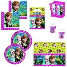 Disney Frozen - Juego de decoración para cumpleaños, diseño de Frozen