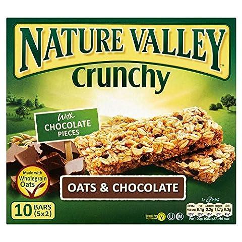 Nature Valley Bars Crunchy Granola - Avoine et chocolat (5x42g) - Paquet de 6