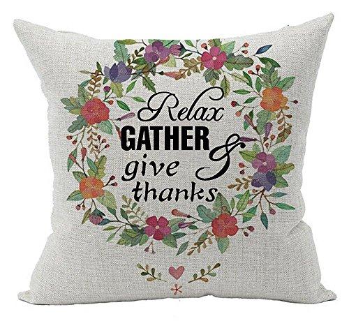 Queen's designer Baumwolle Leinen Quadratisch Kissenbezug dekorativer Überwurf-Personalisierte Relax zweieinhalbfache Give durch Thanksgiving Gifts 45,7x 45,7cm, Textil, Multi, 18